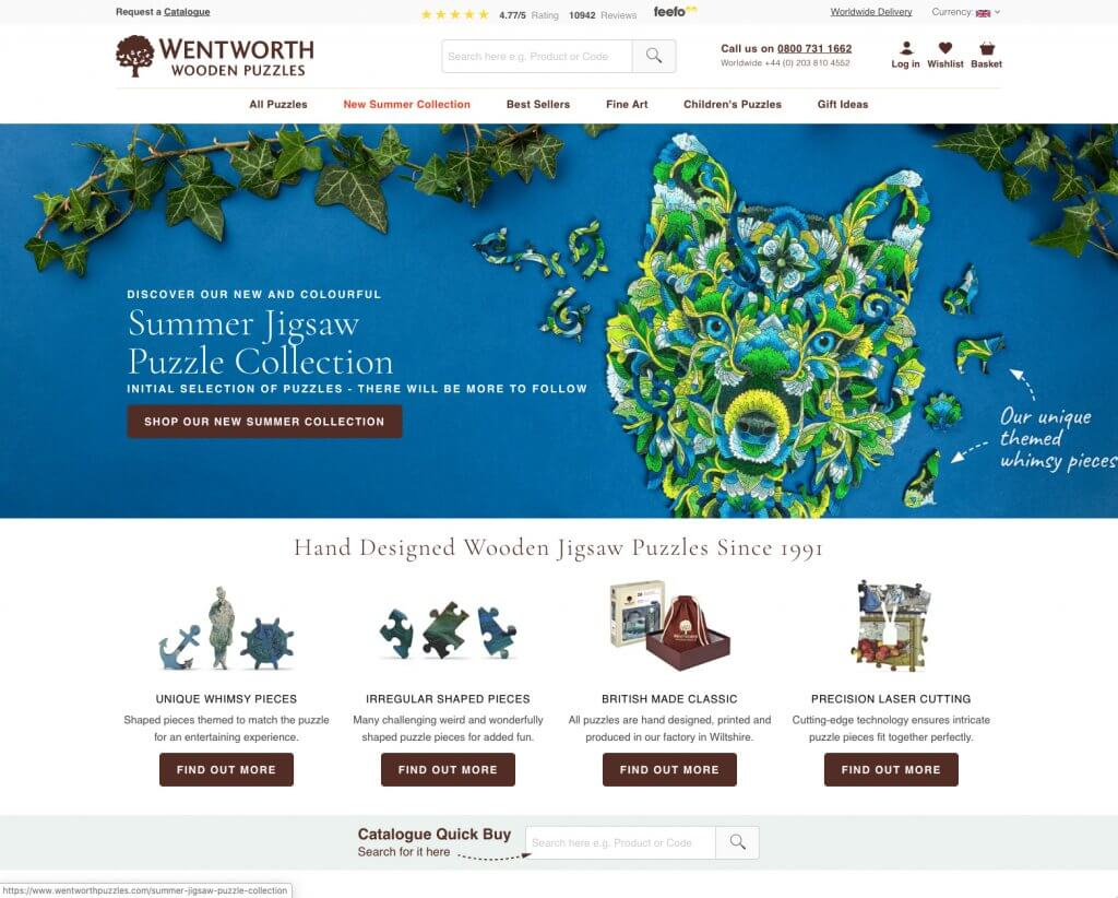 Wentworth Puzzles Website Image