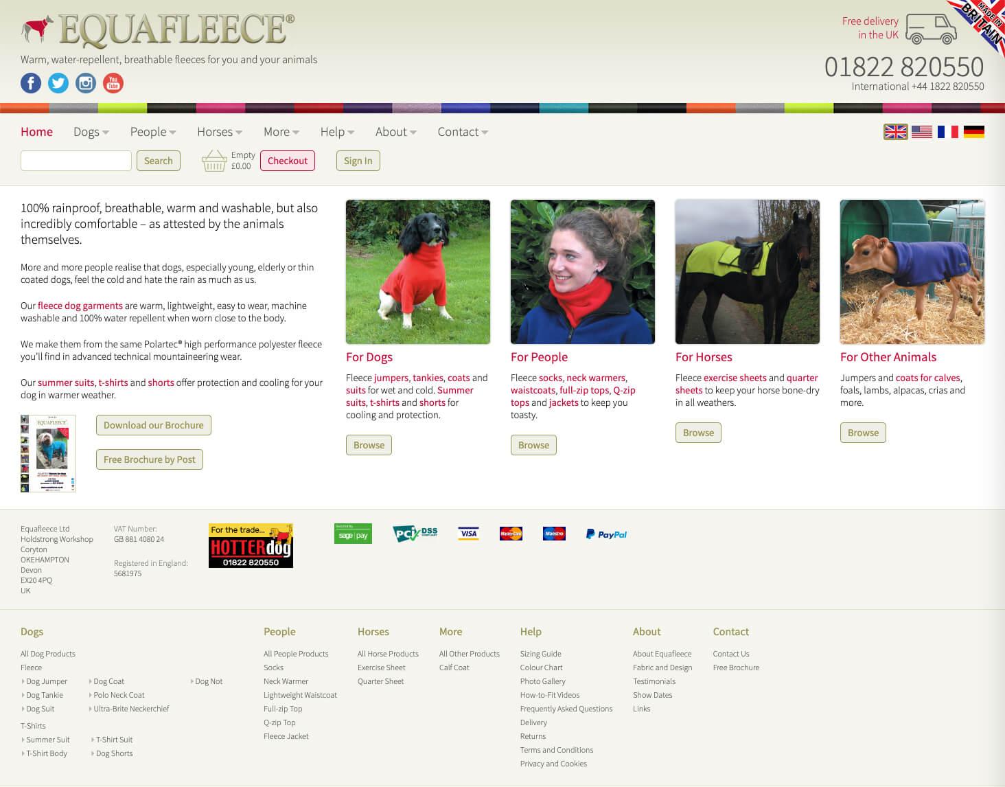Equafleece Website